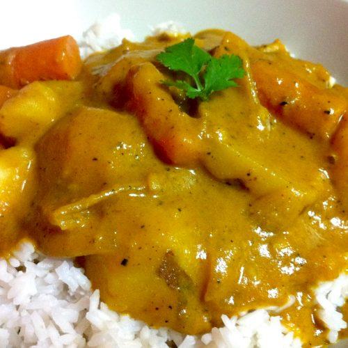 Potato Carrot Yellow Curry Recipe