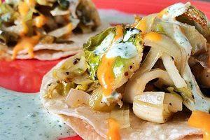 Green Goddess Veggie Tacos with Creamy Cilantro Salsa