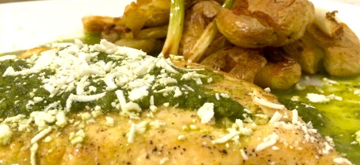 Chicken with Salsa Verdolagas